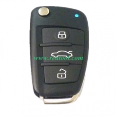 universal 3 buttons key without blade for remote m