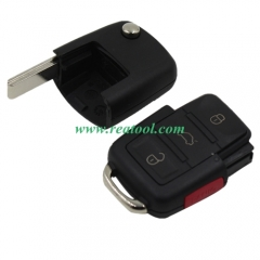 For VW 3+1 button remote blank part with panic but