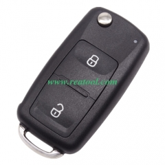 For VW Tiguan Golf 2 Buttons Flip Remote  Key Shel