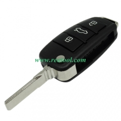 For Audi Q7 3 button remote key blank