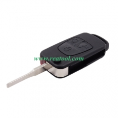 For Benz 3 button flip key blank with 2 track blad
