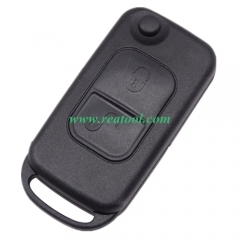 For Benz 2 button flip key blank with 2 track blad