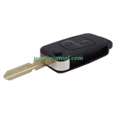 For Benz 3 button flip key blank with 4 track blad