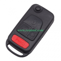 For Benz 3+1 button flip key blank with 4 track bl