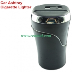Portable LED Light Car Ashtray Cigarette Lighter U