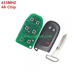 For +Jeep  keyless  remote key with 434mhz with 4A
