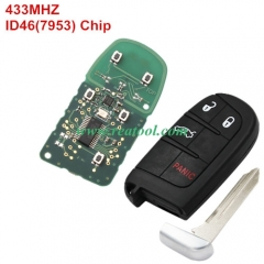 Jeep keyless remote key with 434mhz with 7953  chi