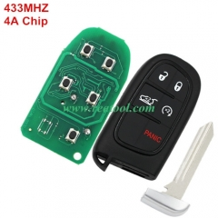 For Jeep  keyless  remote key with 434mhz with 4A
