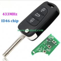 For Kia 3 buttons Sportage remote key 433MHZ with