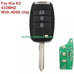 For Kia K3 433MHZ remote key with 4D60 chip