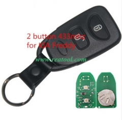 For Kia 2 buttons Freddy remote key with 433MHZ