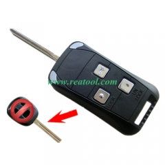 For Lexus 3 buttons Modified folding remote key bl