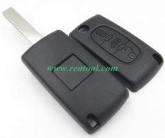 For fiat 3 buton remote key blank with battery HU8
