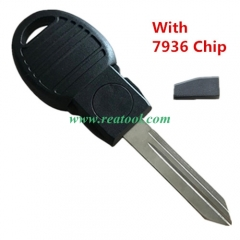 For Chry-sler transponder key with 7936 chip