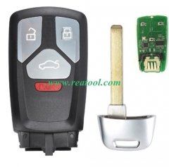 For Keyless Au-di Q7 3+1 button remote key 434mhz