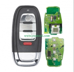 For Audi 3+1 button keyless remote key with 434mhz