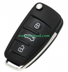 For Audi MQB 3 button flip remote key with AES48 c