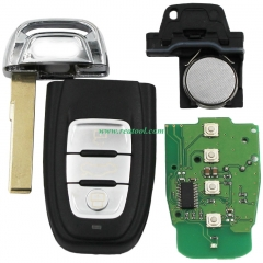 For Audi 3 button keyless remote key with 434mhz F