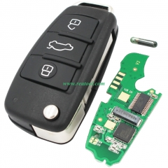 For  Audi A3TT 3 button remote key with ID48 chip