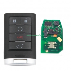 For Cadi-llac 5 button smart keyless remote key GM hitag2 chip  315mhz