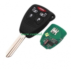 Chry-sler 4+1 buttons remote key with PCF7941 Chip
