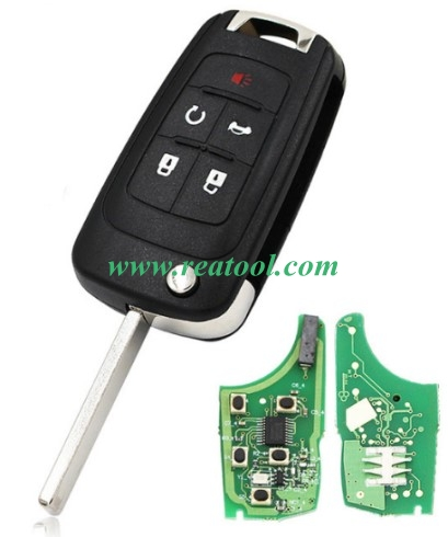 For Chevrolet keyless 4+1 button remote key with 434mhz 7952 chip