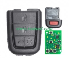 For Chevrolet black 5 button remote key with 434mh