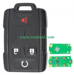 For Chevrolet black 4 button remote key with 434mh