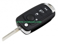 For Fiat 4 button flip remote key blank with SIP22