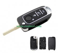 For Fiat 500X 4 button flip Remote Key blank  with
