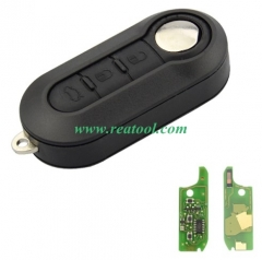 For Fiat 3 Button Flip Folding Remote Control Auto