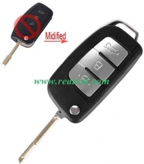 For Ford 3 button flip remote key blank with FO21