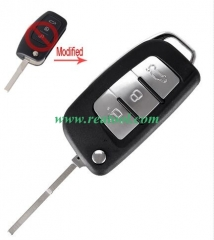 For Ford Focus 3 button flip remote key blank with