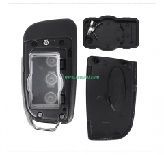 For Ford Focus 3 button flip remote key blank with HU101 blade